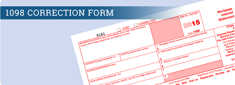 1098 Correction Form