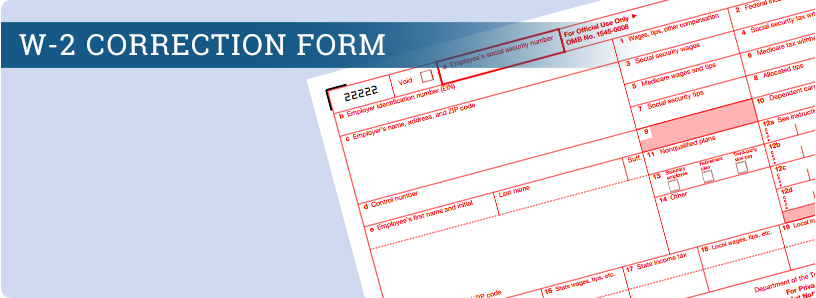 W-2 Correction Form